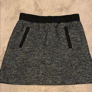 Dark Heathered Gray Mini Skirt